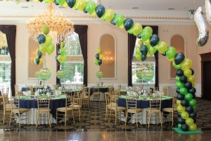 Green Balloon Arches, Balloon Centerpieces