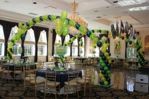 Double Balloon Arches, Green Balloons, Party Balloons, Balloon Centerpieces