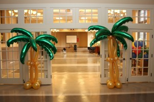 Tropical Palm Tree Decorative Balloon Arches, Mylar Balloons