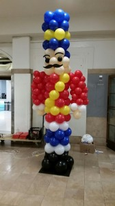 Balloon Columns, Balloon Sculpture, Holiday soldier Balloon Column