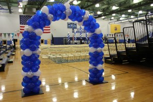 Blue and White Balloon Arch, School Spirit Balloons, Party Balloons